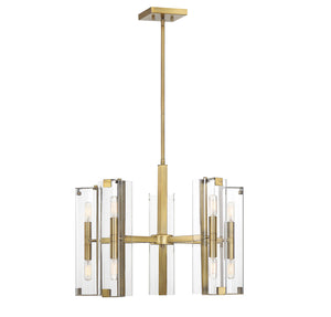 542397 - Ten Light Chandelier - Warm Brass