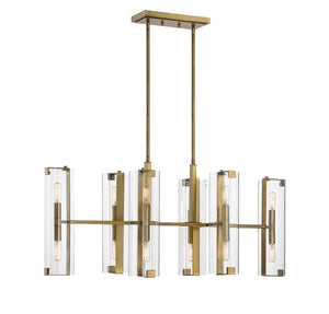 542395 - 12 Light Chandelier - Warm Brass