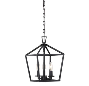 542311 - Three Light Foyer Pendant - Matte Black