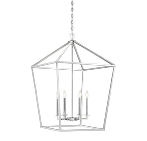 542382 - Six Light Foyer Lantern - Polished Nickel