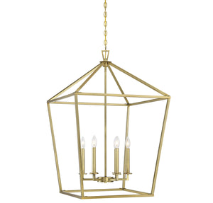 542383 - Six Light Foyer Lantern - Warm Brass