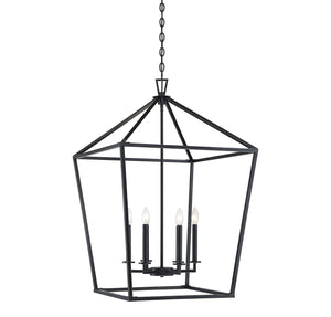 542389 - Six Light Foyer Lantern - Classic Bronze