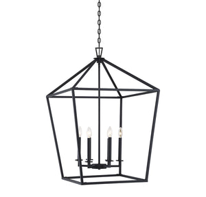 542381 - Six Light Foyer Lantern - Matte Black