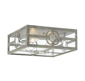 542375 - Two Light Flush Mount - Misty Sky
