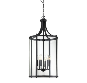 542949 - Six Light Foyer Lantern - Black