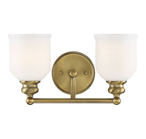 542931 - Two Light Bath Bar - Warm Brass