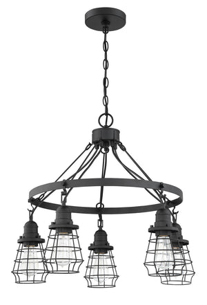 593675 - Five Light Chandelier - Flat Black