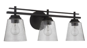 593747 - Three Light Vanity - Flat Black