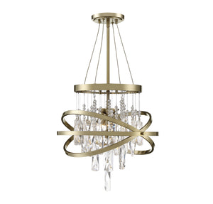 597148 - Three Light Chandelier - Noble Brass