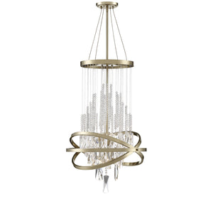 597146 - Six Light Chandelier - Noble Brass
