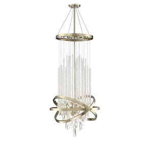 597147 - Nine Light Chandelier - Noble Brass