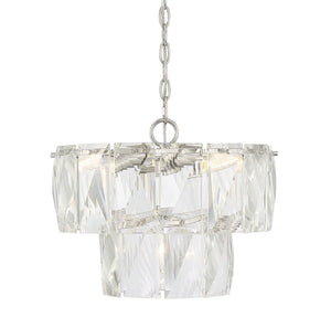 597138 - Four Light Chandelier - Polished Nickel