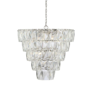 597137 - Ten Light Chandelier - Polished Nickel