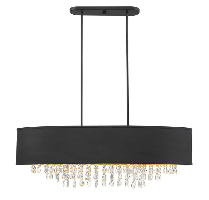 Eight Light Linear Chandelier