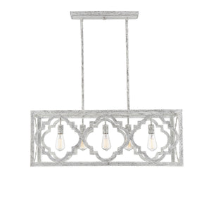 597117 - Five Light Linear Chandelier - Charisma