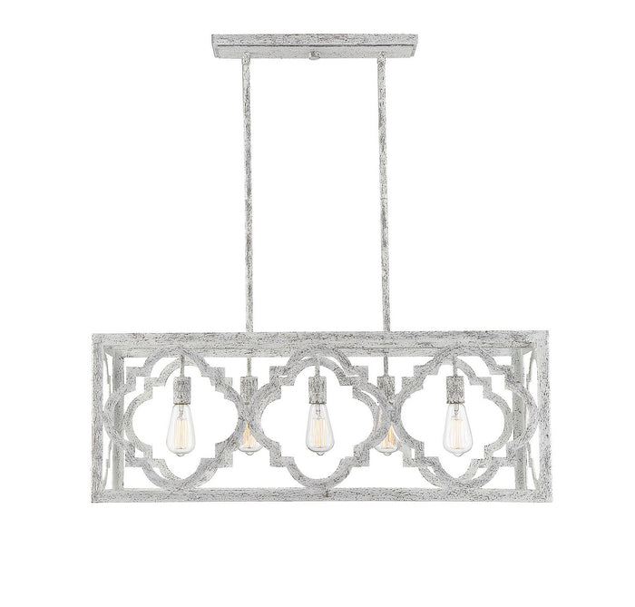 Five Light Linear Chandelier