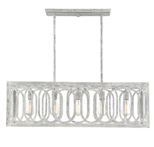 597115 - Five Light Linear Chandelier - Charisma