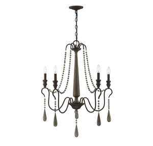 597180 - Five Light Chandelier - Weathered Ash