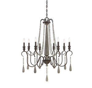 597184 - Eight Light Chandelier - Weathered Ash