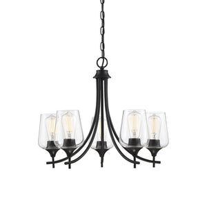 597162 - Five Light Chandelier - Black