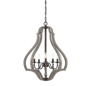597167 - Five Light Foyer Lantern - Weathered Ash