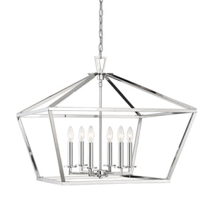 597172 - Six Light Lantern - Polished Nickel