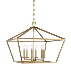 597173 - Six Light Lantern - Warm Brass