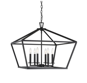 597171 - Six Light Lantern - Matte Black