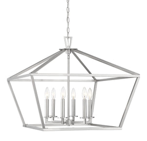 597178 - Six Light Lantern - Satin Nickel