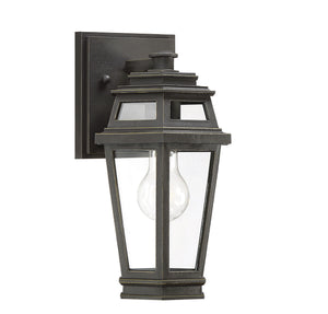 597156 - One Light Outdoor Wall Lantern - Textured Bronze w/ Gold Highlights