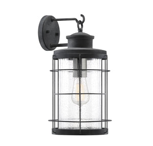 597809 - One Light Outdoor Wall Lantern - Oxidized Black