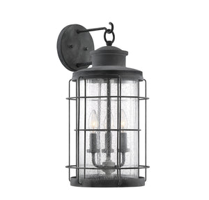 597801 - Three Light Wall Lantern - Oxidized Black