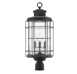 597808 - Three Light Post Lantern - Oxidized Black