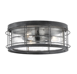 597805 - Three Light Flush Mount - Oxidized Black