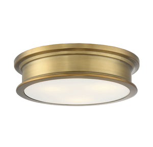 597843 - Three Light Flush Mount - Warm Brass