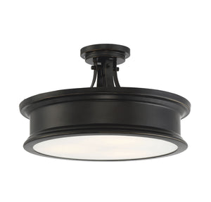 597846 - Three Light Semi-Flush Mount - Classic Bronze