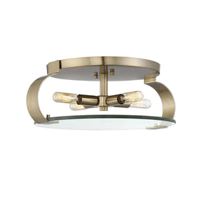597824 - Four Light Flush Mount - Noble Brass