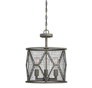 597829 - Three Light Semi-Flush Mount - Smoke