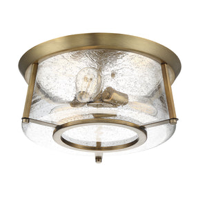 597828 - Three Light Flush Mount - Warm Brass