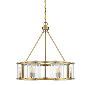 597819 - Six Light Pendant - Warm Brass