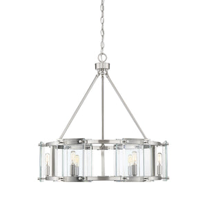 597811 - Six Light Pendant - Satin Nickel