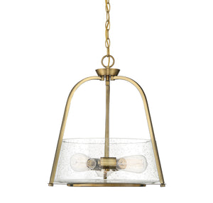 597874 - Three Light Pendant - Warm Brass