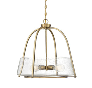 597879 - Four Light Pendant - Warm Brass