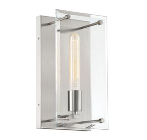 597633 - One Light Wall Sconce - Satin Nickel