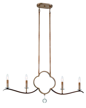510239 - Four Light Island Pendant - Pale Gold w/ Distressed Bronze