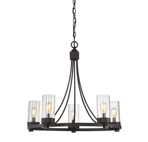 513125 - Five Light Chandelier - Oil Rubbed Bronze