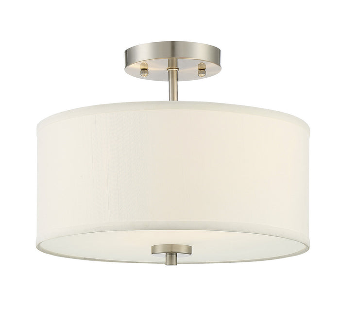Two Light Semi Flush Mount