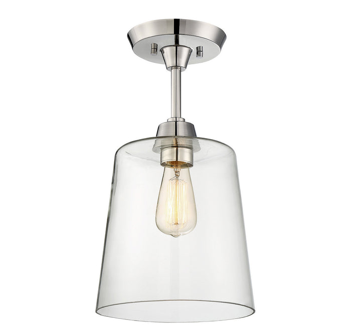 One Light Semi Flush Mount