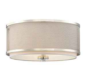 513151 - Three Light Flush Mount - Polished Nickel