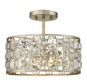 513844 - Two Light Flush Mount - Silver Gold